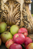 Red and Green Organic Apples-England-UK Stock Image
