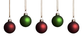 Red and Green Ornaments Royalty Free Stock Photo