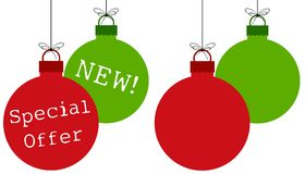 Red Green Ornaments Royalty Free Stock Images