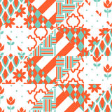 Red and green patchwork pattern. Stock Photos