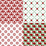 Red and green patterns Stock Photo