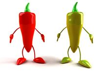 Red and green pepper Royalty Free Stock Photography