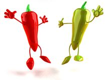 Red and green pepper Royalty Free Stock Photos