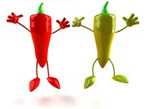 Red and green pepper Stock Image