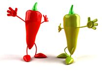 Red and green pepper Stock Photography