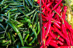 Red and green pepper Stock Images