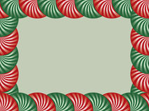 Red and Green Peppermint Border. For Christmas Royalty Free Stock Photography
