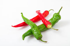 Red and green peppers Royalty Free Stock Photos
