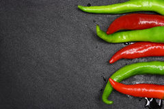 Red and green peppers Stock Image
