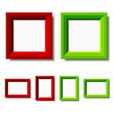 Red and green photo frames Stock Photography