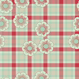 Red green plaid flower Royalty Free Stock Photos