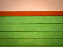 Red and Green Plank Wood wall Royalty Free Stock Photo