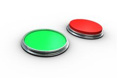 Red and green push buttons Royalty Free Stock Photo