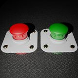 Red and Green pushbuttons Stock Photos