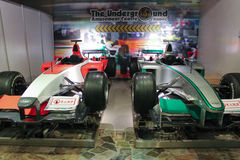 Red and green racing cars in Macao Royalty Free Stock Images
