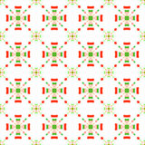 Red and green rectangle gropes flat seamless Royalty Free Stock Images