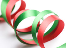 Red and Green Ribbon Stock Photos