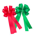 Red And Green Ribbons. Royalty Free Stock Photo