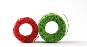 Red and green roll Royalty Free Stock Photos