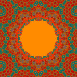 Red Green Round Ornamental Symmetry Pattern Royalty Free Stock Photo
