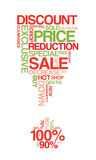 Red and green sale discount poster Royalty Free Stock Photo