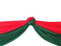 Red and green satin drape Royalty Free Stock Photo