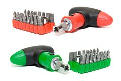 Red  and green screwdriver set Royalty Free Stock Image