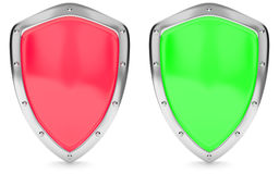 Red and green shield Royalty Free Stock Image