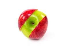 Red and green sliced apple Royalty Free Stock Image