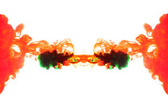 Red and green Smoke. Royalty Free Stock Photography