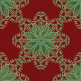 Red Green Snowflake Pattern Royalty Free Stock Images
