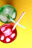 Red and green soda fizzy drinks Stock Images