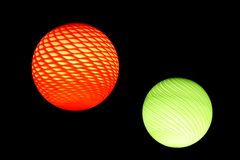 Red and green sphere Stock Image
