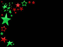 Red and Green Star page backgr Stock Images