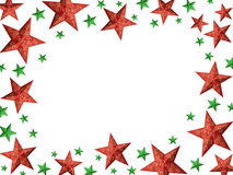 Red and green stars frame Royalty Free Stock Images