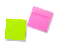 Red and green sticky note  Stock Images