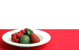 Red and Green Still Life Royalty Free Stock Photography