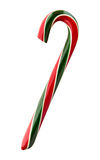 Red and Green Striped Candy Cane Royalty Free Stock Photo
