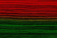 Red green striped wood texture Stock Photography