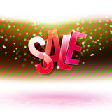 Red and green stripes with Sale message Stock Image