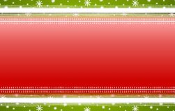 Red Green Stripes Snowflakes Christmas Background. A background illustration featuring red with green and white borders and snowflakes Royalty Free Stock Photos