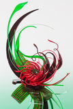 Red and green sugar sculpture Stock Image