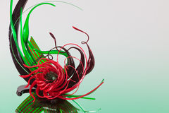 Red and green sugar sculpture Royalty Free Stock Image