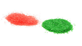 Red and green sugar sprinkles Stock Images