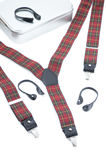 Red and green suspenders Royalty Free Stock Photography