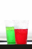 Red and green of sweetened beverages. Stock Images