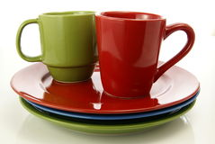 Red and Green Tableware Royalty Free Stock Photography