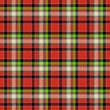 Red and green tartan seamless design pattern Stock Photography