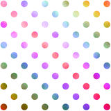 Red Green Teal Blue Purple Polka Dot Pattern Stock Photo