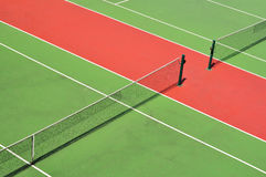Red and green tennis court Stock Image